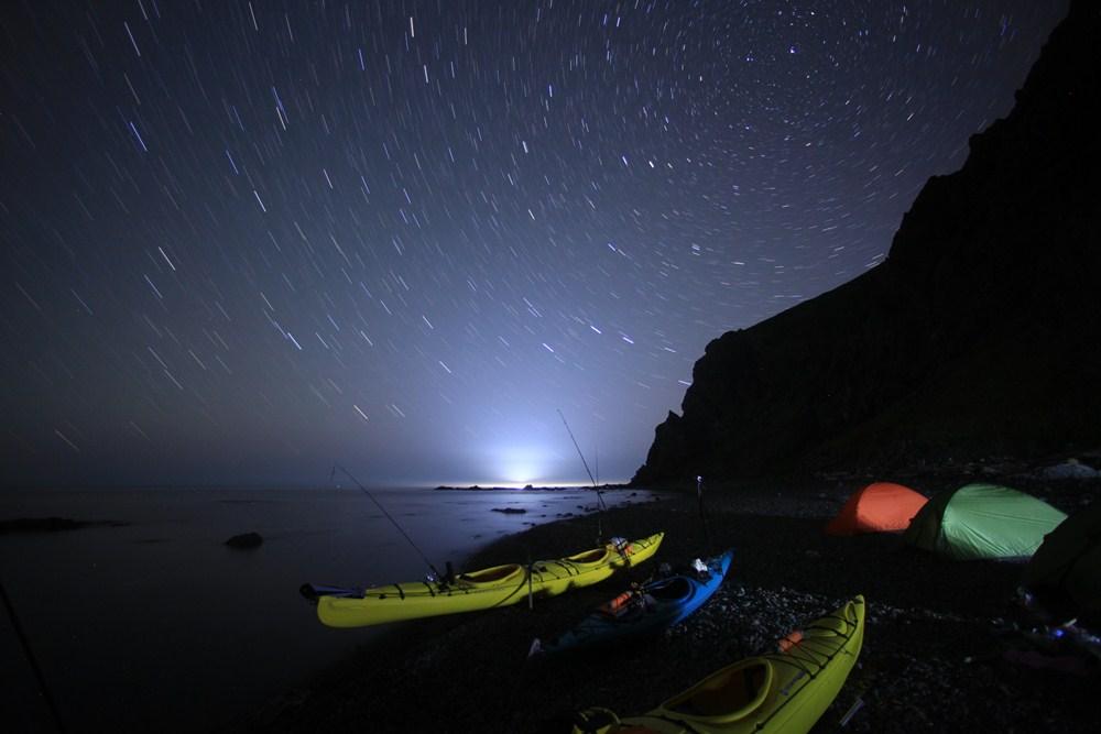 礼文島シーカヤックキャンプ