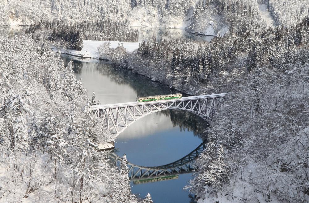 雪中祕境/只見線/日本/旅遊