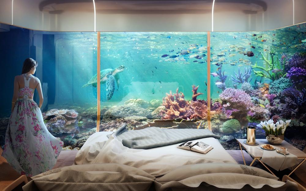 The Floating Seahorse房內海底景觀