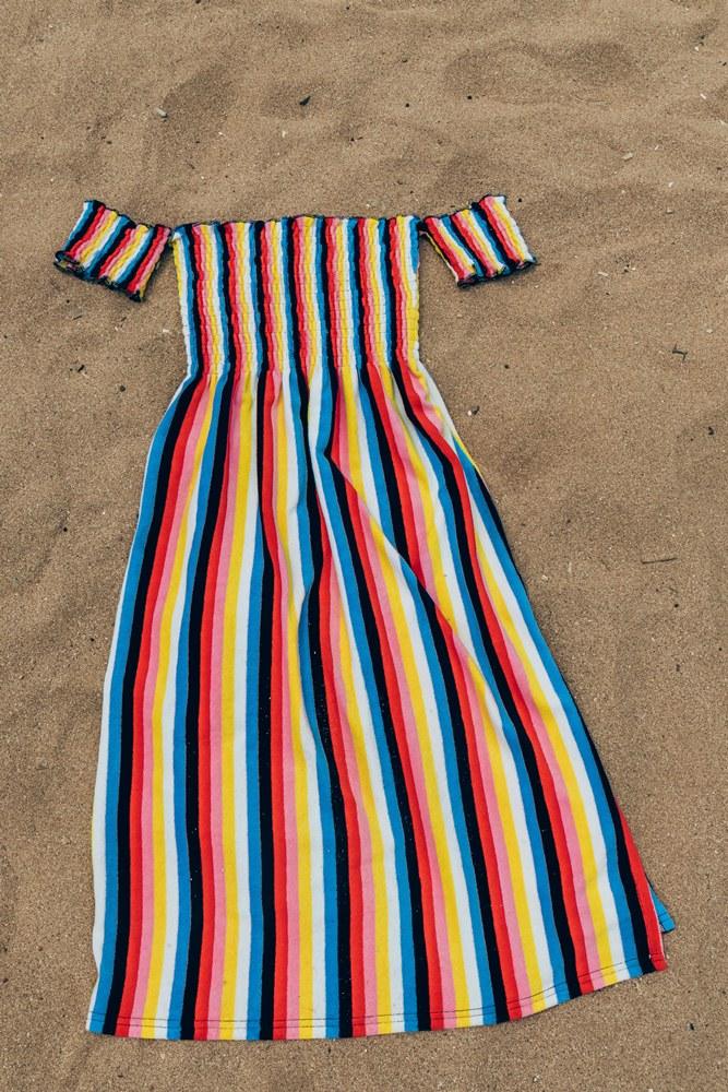 Juicy Couture 彩色條紋洋裝