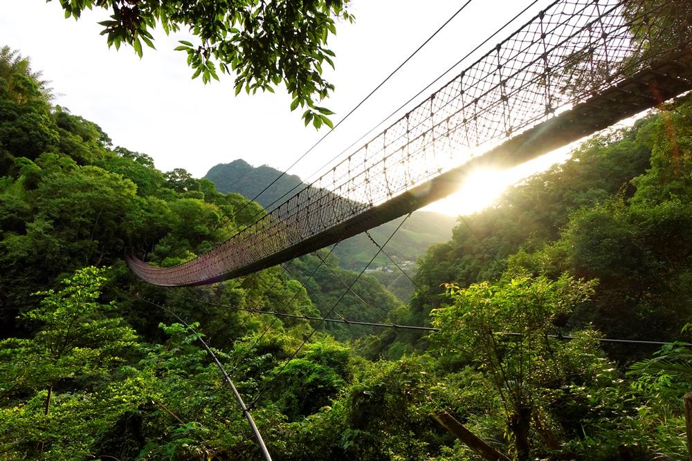小烏來的天空繩橋