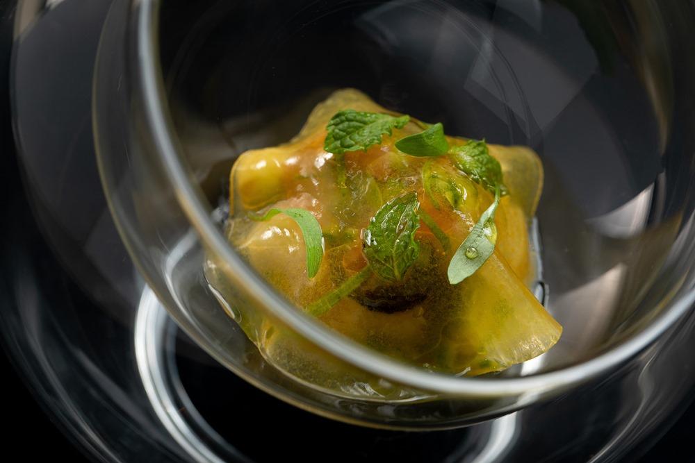 小黃瓜、酪梨、黑橄欖、西瓜、台灣紅魽、檸檬的Cerviche