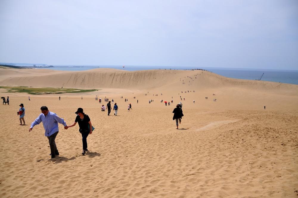 廣闊的鳥取沙丘給人置身沙漠的錯覺