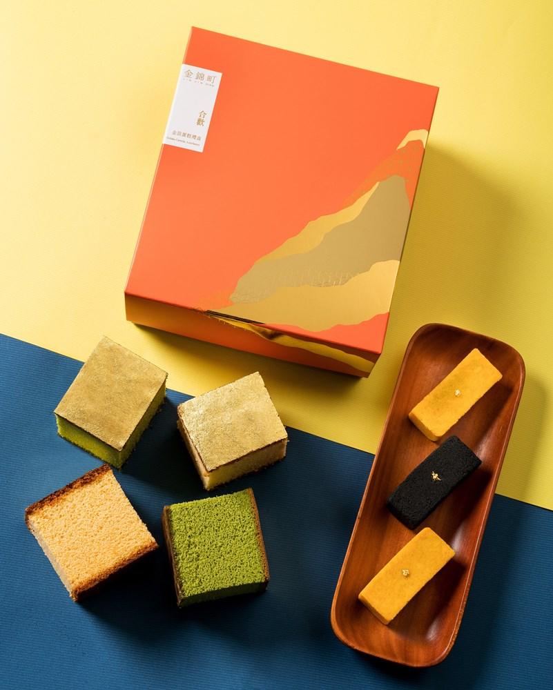 金箔蜂蜜蛋糕/文青伴手禮禮盒/金錦町/視覺系日式甜點/台北