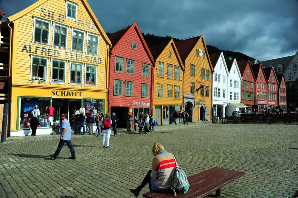 挪威/布里根/文化遺產/漢薩同盟城市/街景