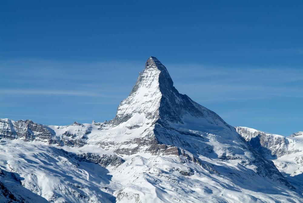 錐形馬特洪峰/策馬特/阿爾卑斯山/瑞士
