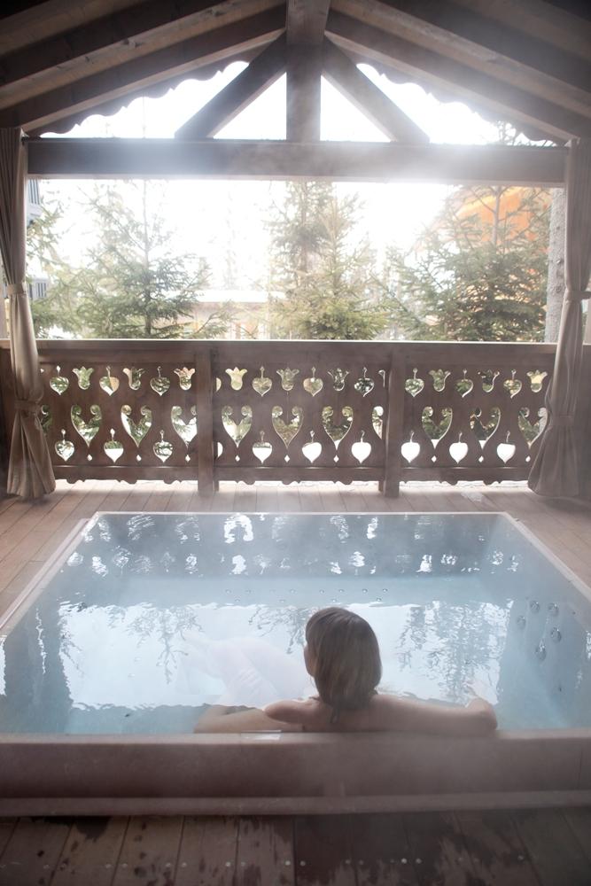 半戶外熱水池/觀景/Chalet Ormello/法國