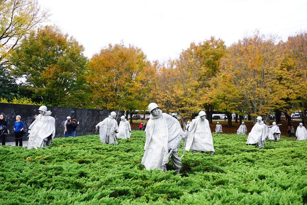 韓戰紀念碑/華盛頓特區/華盛頓/美國