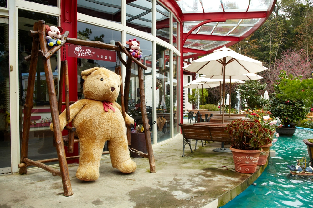 泰迪熊玩偶/餐廳門口/花開了休閒農園/桃園大溪/臺灣