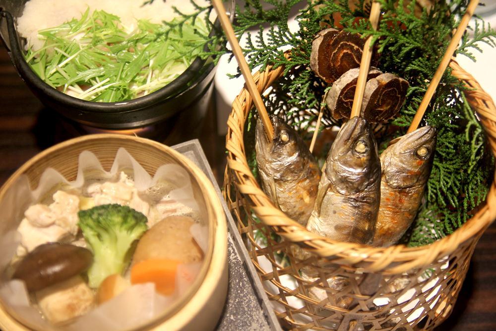 香魚加鹽燒烤/祖谷溪谷/四國/日本