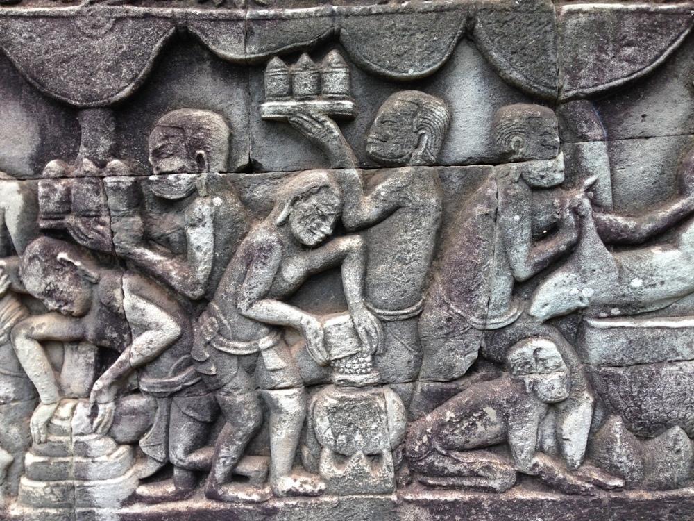 石牆雕刻/巴戎寺/吳哥窟/柬埔寨