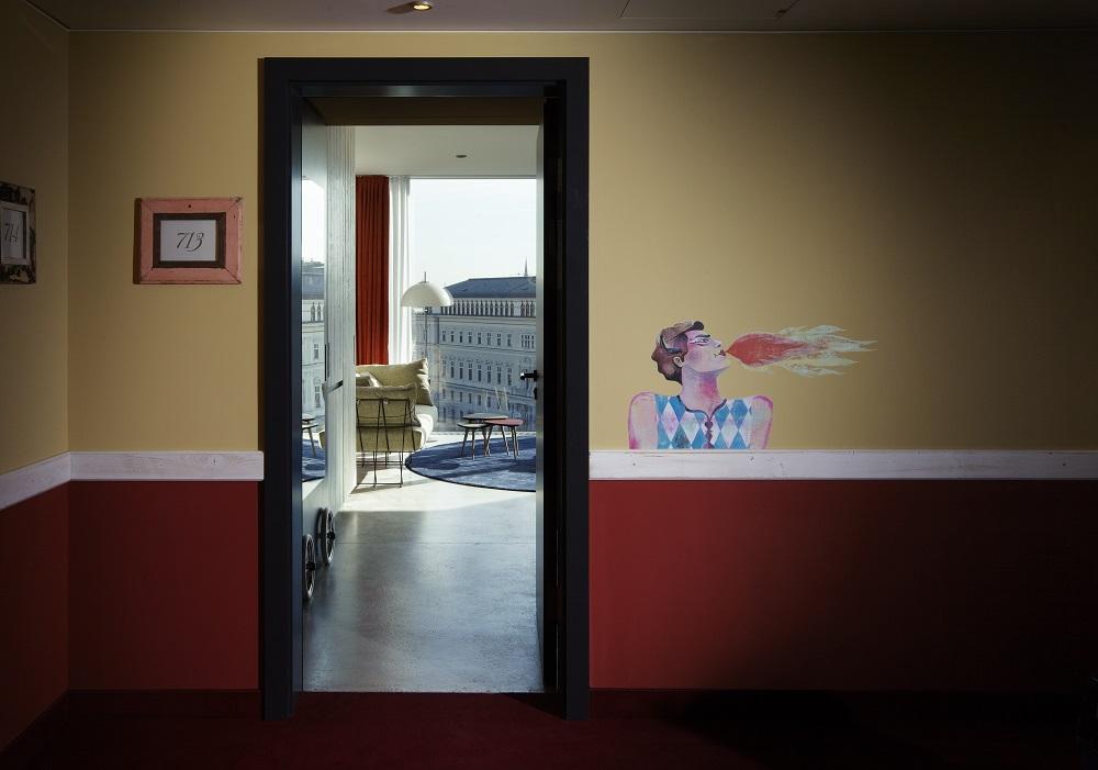 客房門口/25hours Hotel Wien/維也納/奧地利