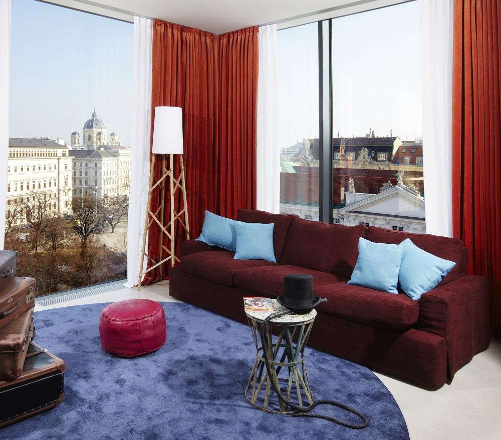 客房/沙發/25hours Hotel Wien/維也納/奧地利