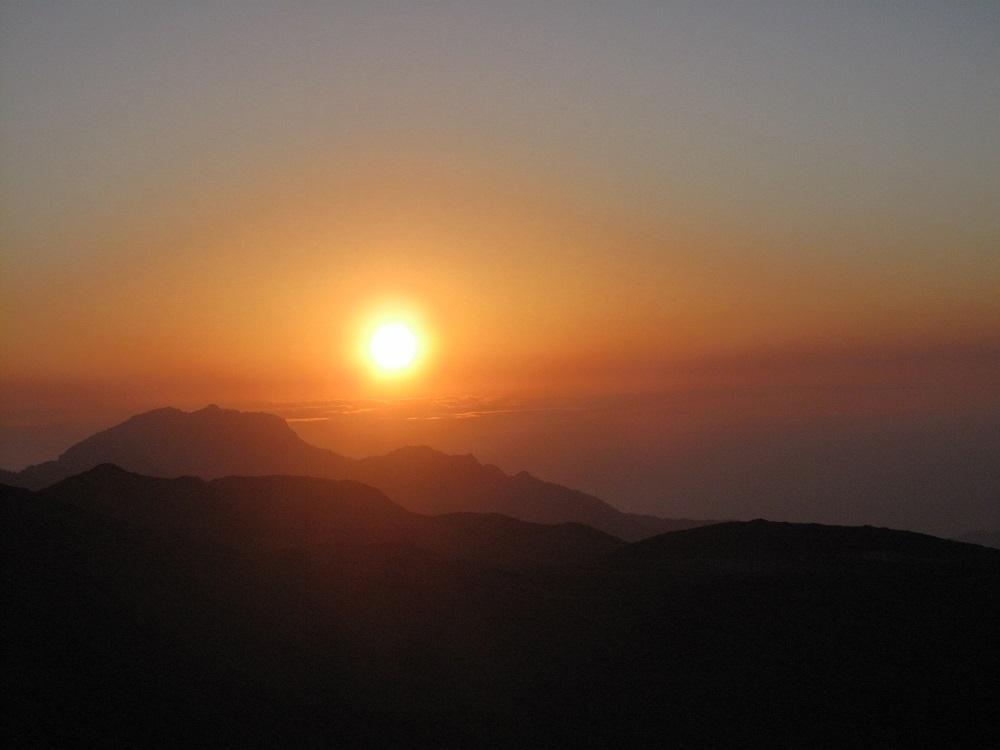 夕陽/嘉明湖/台東/台灣
