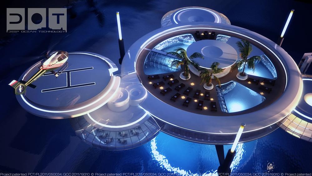 Water Discus Hotel/飛碟造型/杜拜