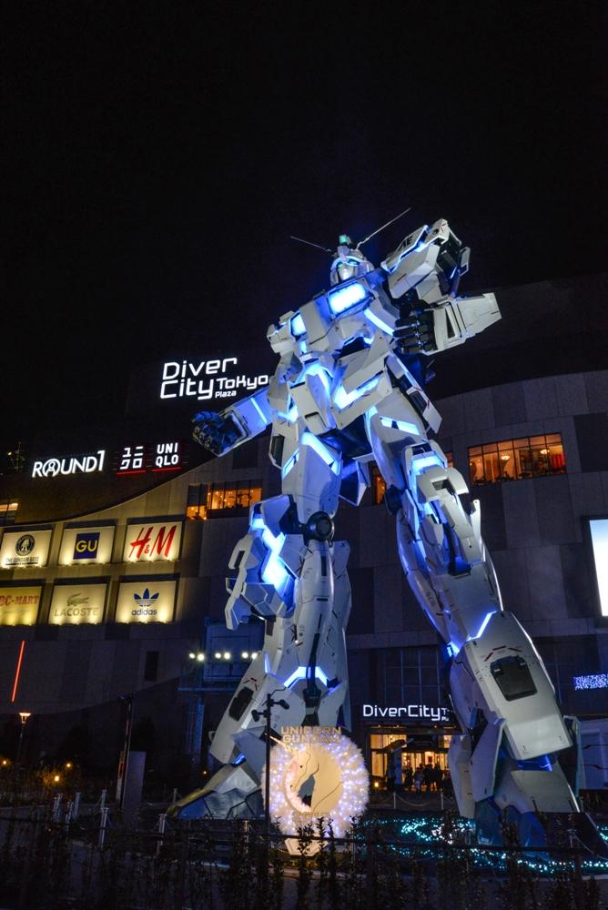 獨角獸鋼彈立像/動漫文化/台場DiverCity Tokyo購物中心/東京/日本