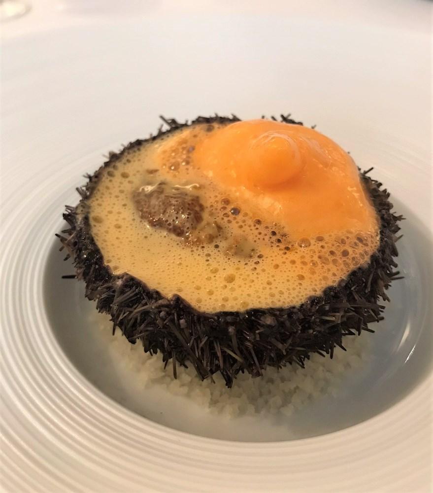 海膽,胡蘿蔔和血橙/L'Inconnu/Koji HIGAKI/法國/巴黎/法國美食/日本主廚