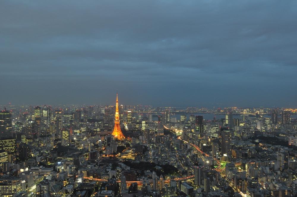 夜景/六本木新城森大樓/東京/日本