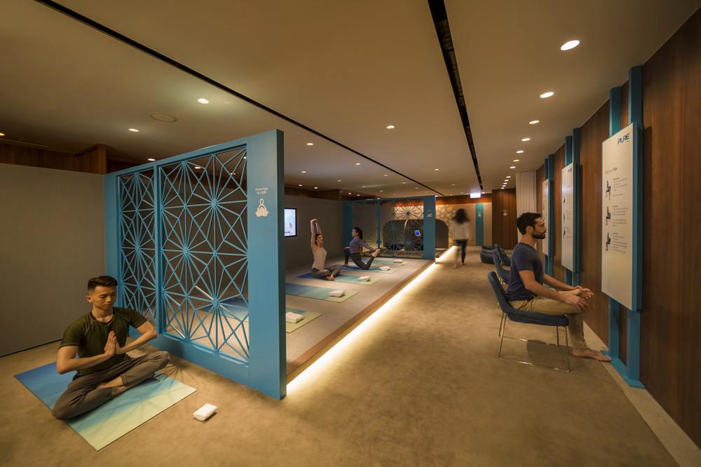 國泰航空/貴賓室/瑜伽/瑜逸閣/The Sanctuary by Pure Yoga/香港機場貴賓室