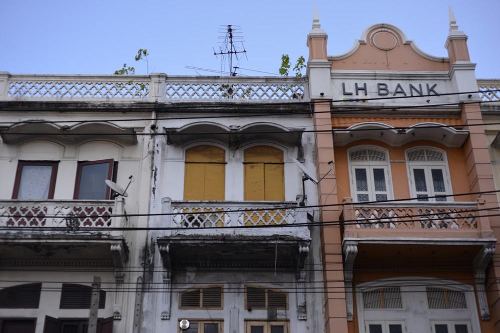 美麗的老建築/老城區/曼谷/泰國