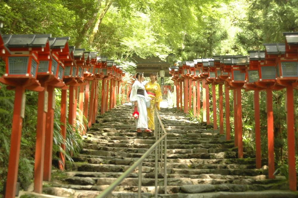 貴船神社/鳥居/京都/打卡景點/神社/和服