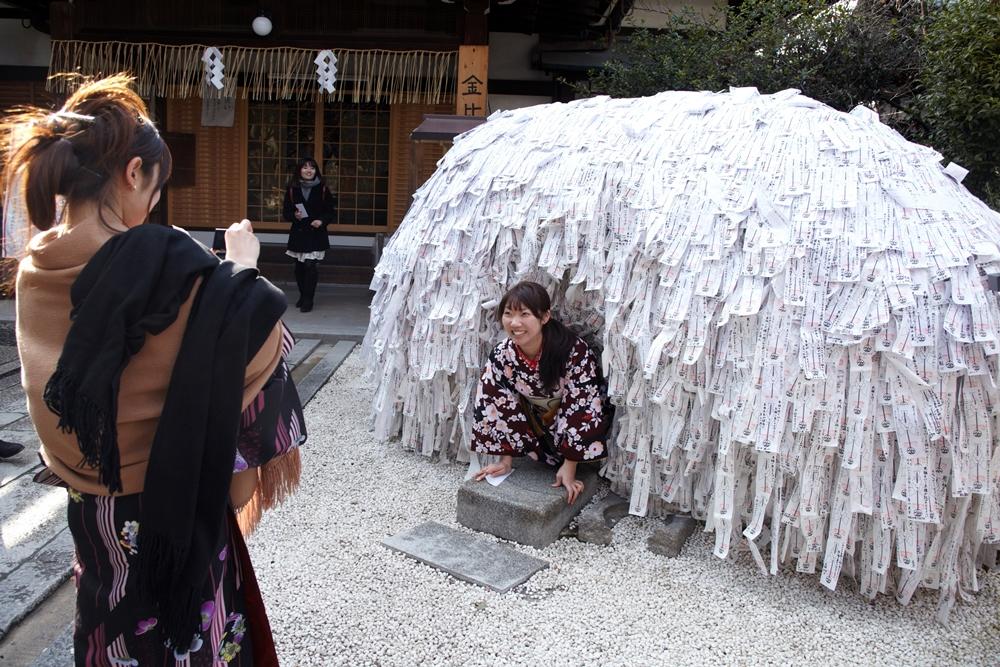 安井金比羅神社/緣切緣結碑/京都/打卡景點/神社/和服