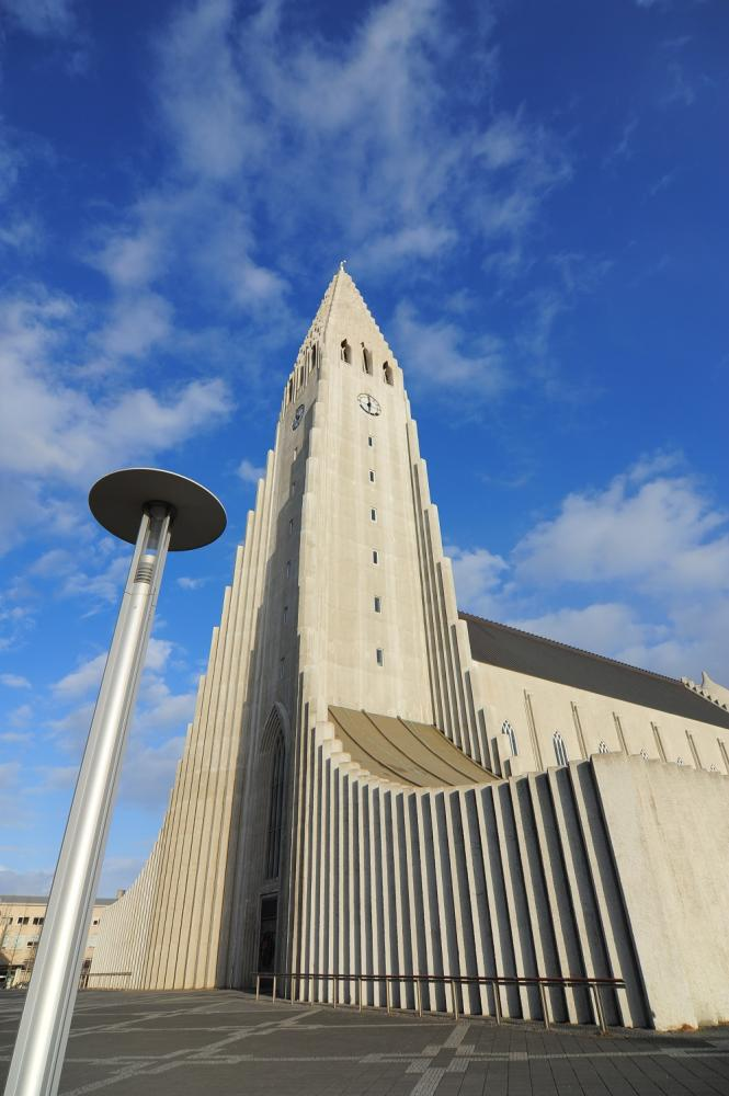 Hallgrímskirkja教堂/雷克雅維克/冰島