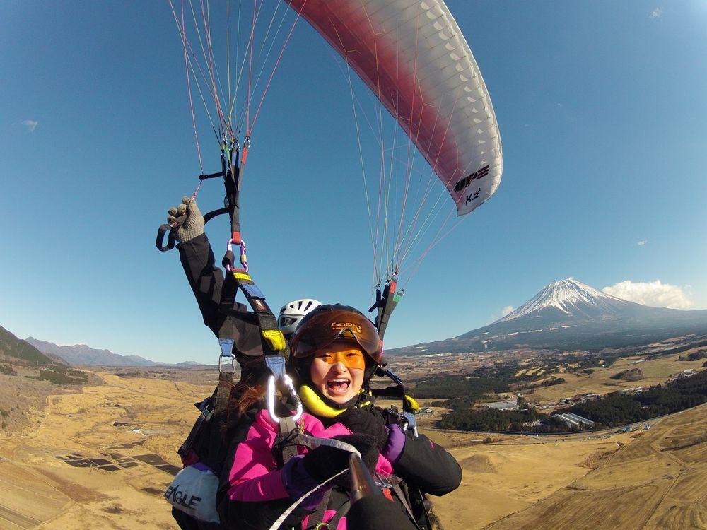 富士山_飛行傘