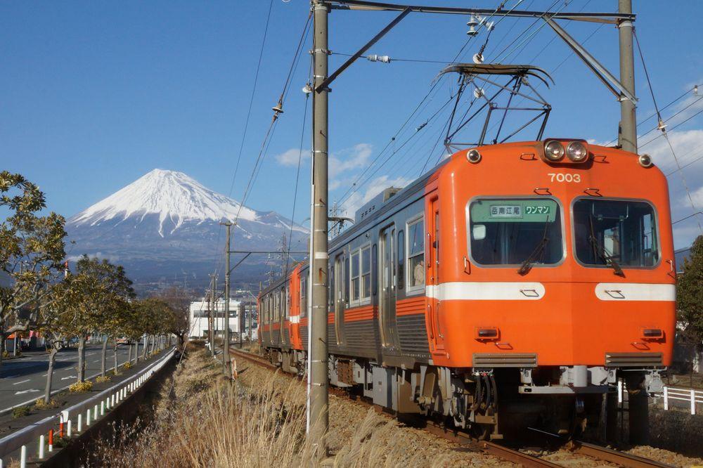 富士山_岳南電車