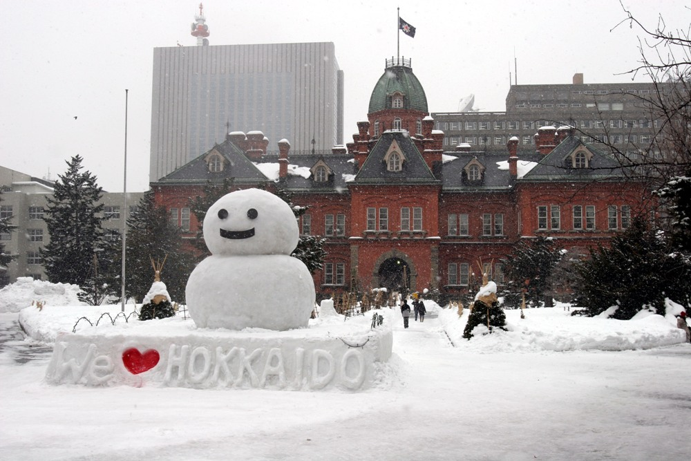 雪人/札幌雪祭/北海道/日本