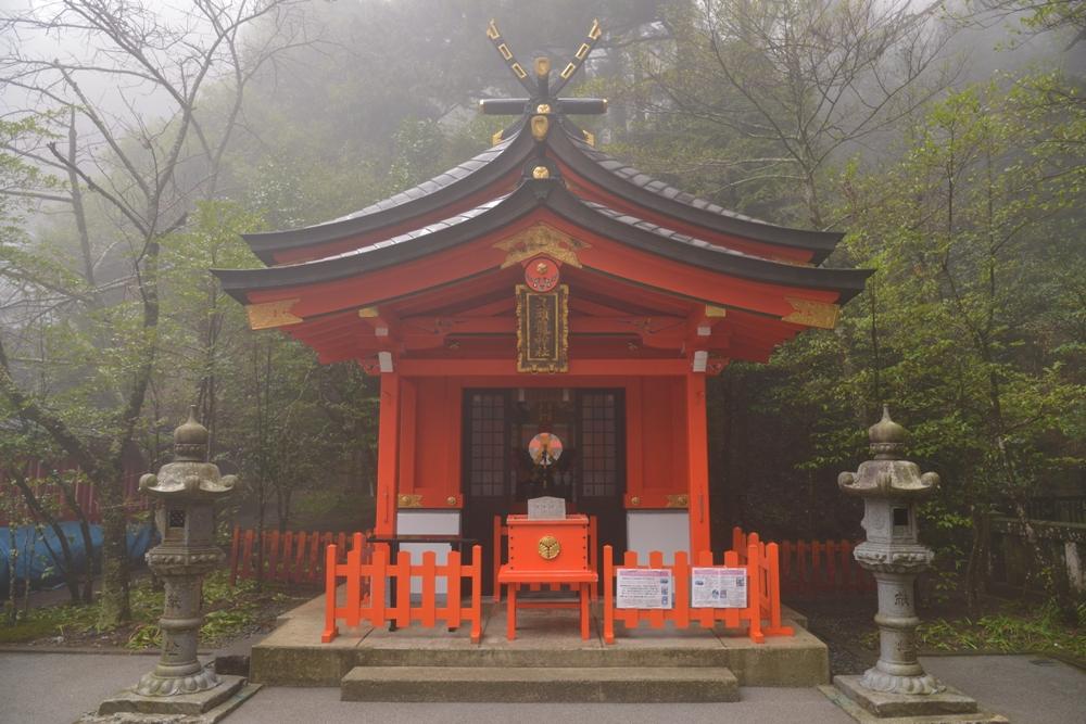 朱紅色鳥居/箱根神社/箱根/日本