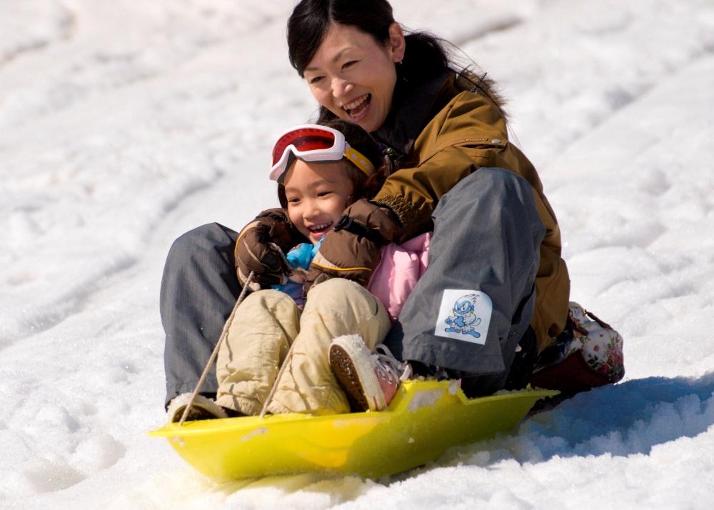 親子滑雪/Yeti滑雪場/富士山/日本