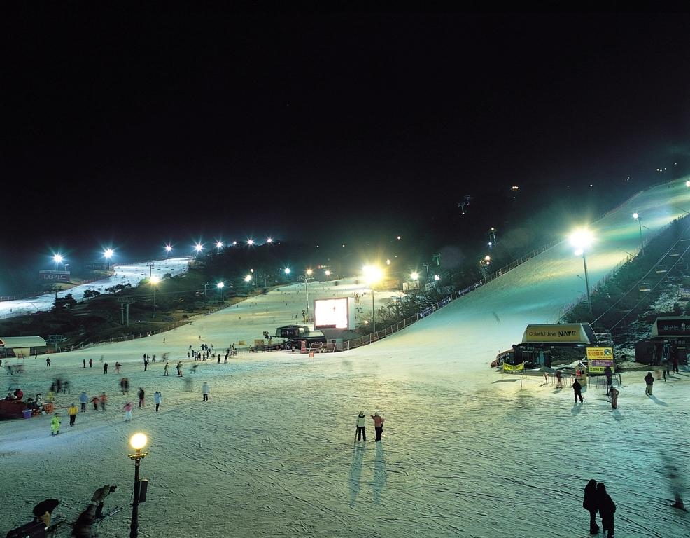 滑雪場/維瓦爾第公園渡假村/江原道/韓國