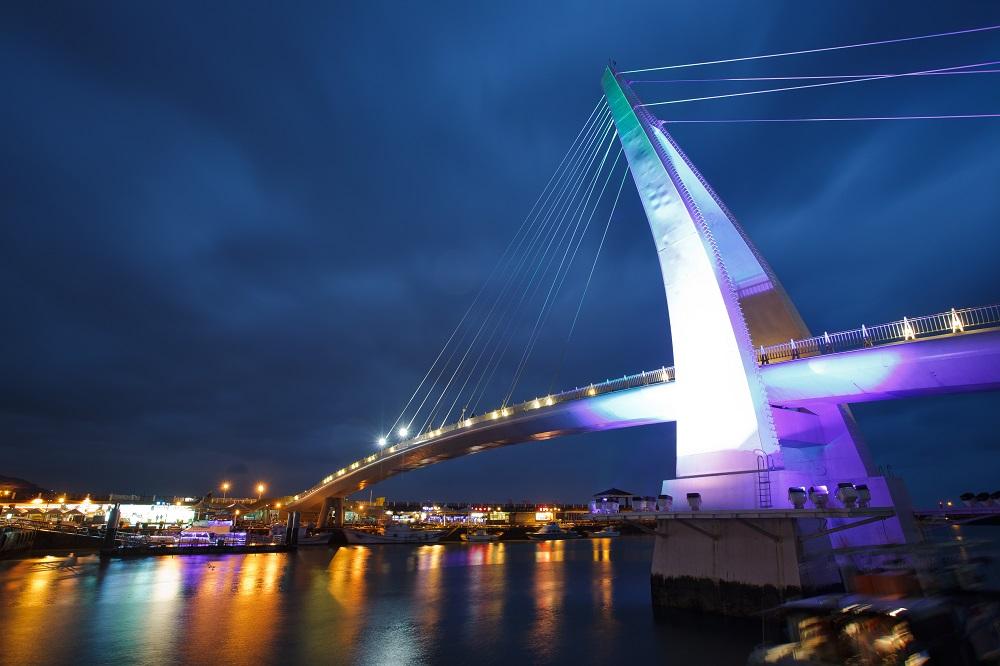情人橋/夜景/漁人碼頭/淡水