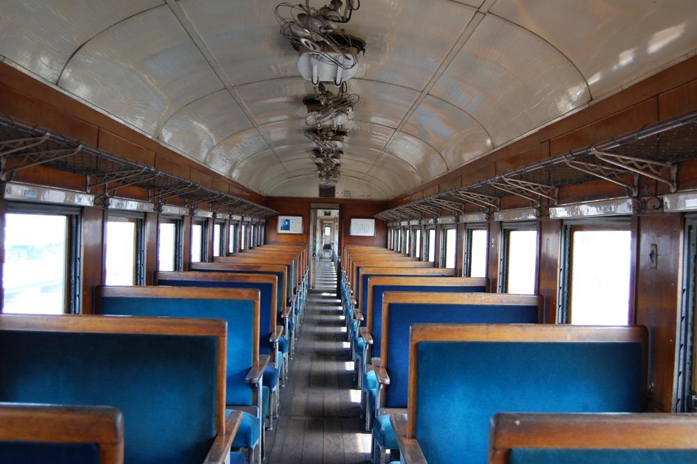 車廂內部/大井川鐵道SL蒸氣機關車/日本