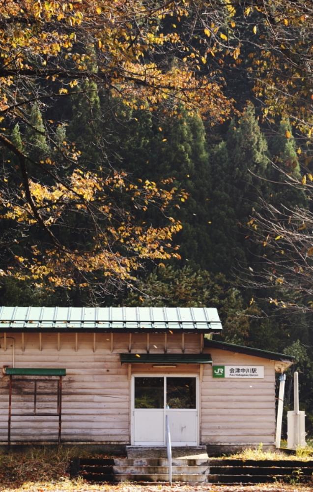 舊車站/只見線列車/東日本