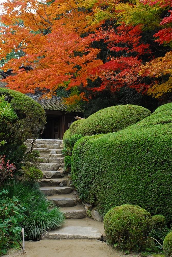 庭園造景/詩仙堂/京都/日本