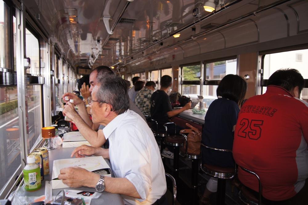 車廂內/啤酒電車/熊本市/日本