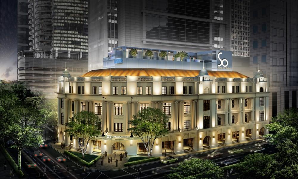 夜景飯店外觀/Sofitel So Singapore/新加坡