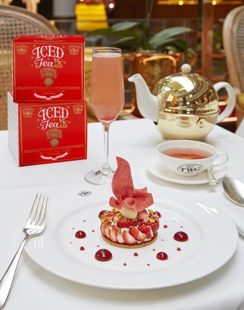 TWG Tea Mother's Day Set Menu/草莓開心果塔佐大黃根雪酪 Strawbe