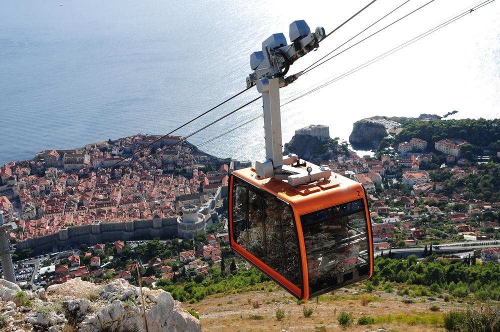 克羅埃西亞/杜布洛夫尼克/纜車