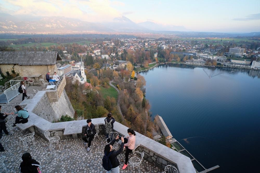 布列德/斯羅維尼亞/翡翠湖景/歐洲小鎮旅行