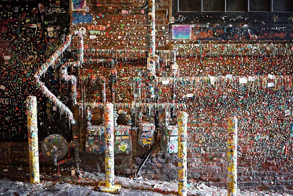 口香糖牆/西雅圖/華盛頓州/美國