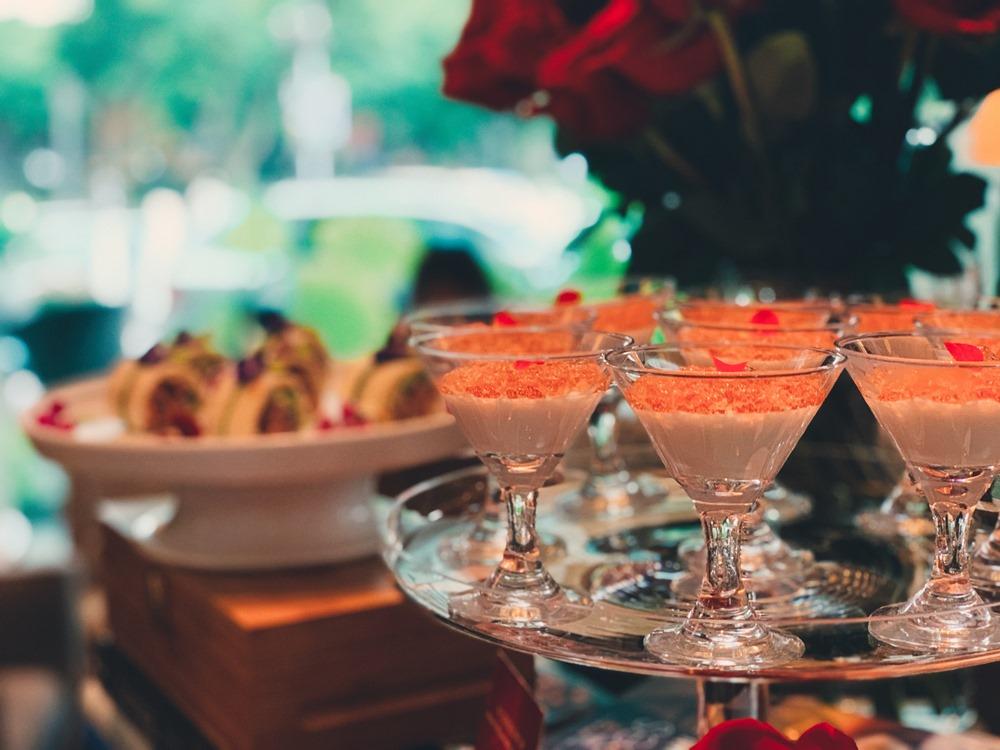 玫瑰晶凍優格/周末限定「以玫瑰之名 女皇下午茶」/香格里拉台北遠東大廳茶軒