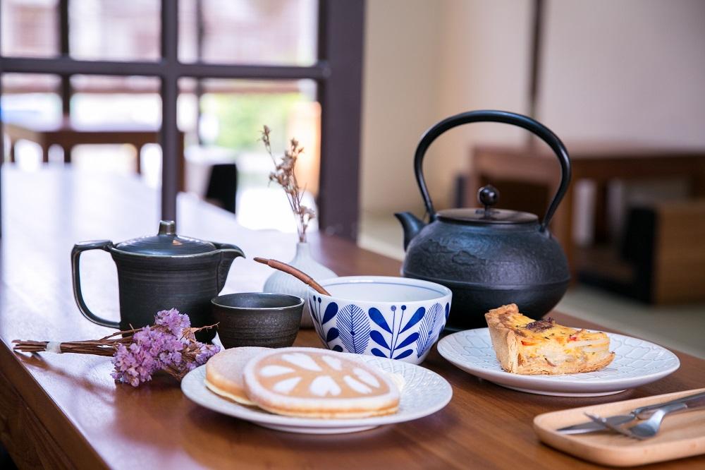 茶壺/甜點/鹹派/鬆餅/乾燥花/驛前大和咖啡館