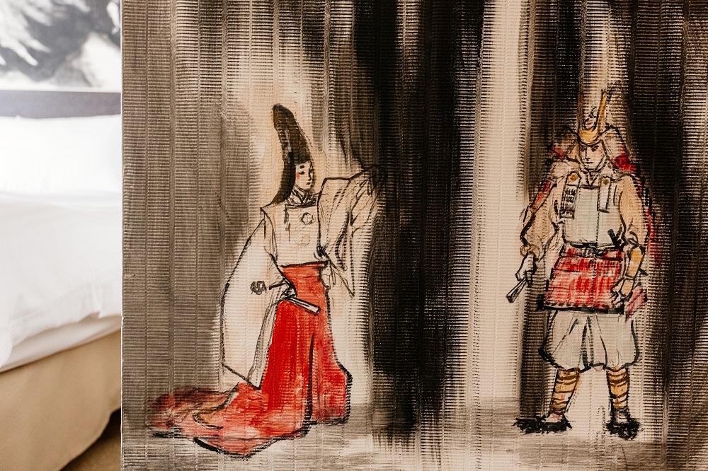 Park Hotel Tokyo/和服/日本武士/盔甲/日式水墨畫
