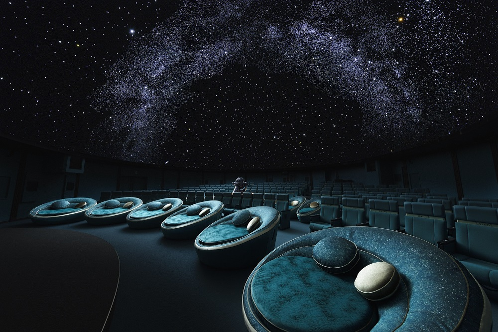 Konica Minolta Planetarium Tokyo/銀河主題圓形沙發