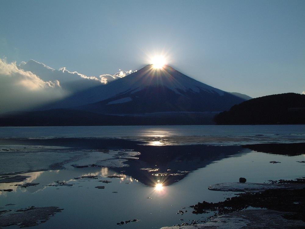 鑽石富士/富士山/春天/秋天/日本