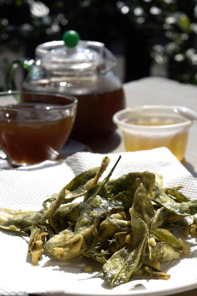 炸茶葉綠茶凍/台灣茶文化/宜蘭/台灣