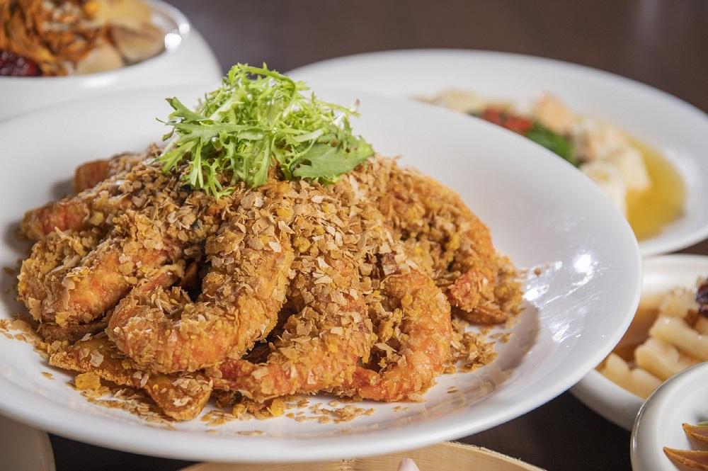 麥片金沙軟殼蝦/父親節家宴/台北凱達大飯店